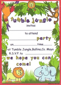 Tumble Jungle Invitation